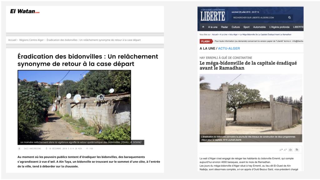 Alger - Bidonvilles - Réinventer Calais
